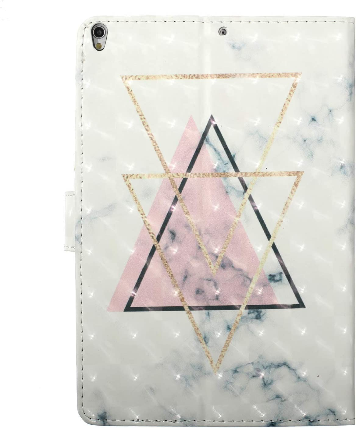 Pink Triangle Thin Lightweight Magnetic Closure Stand Folio Tablet Cover Shockproof Protective Case and Stylus Pen Leather Case for iPad Air 3 10.5 2019//iPad Pro 10.5 2017,QFFUN Glitter Pattern
