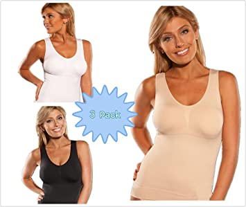 af6094fad50 Image Unavailable. Image not available for. Colour  Aitter Women s Slimming  Shaper Full Body Shapewear Tank Top ...