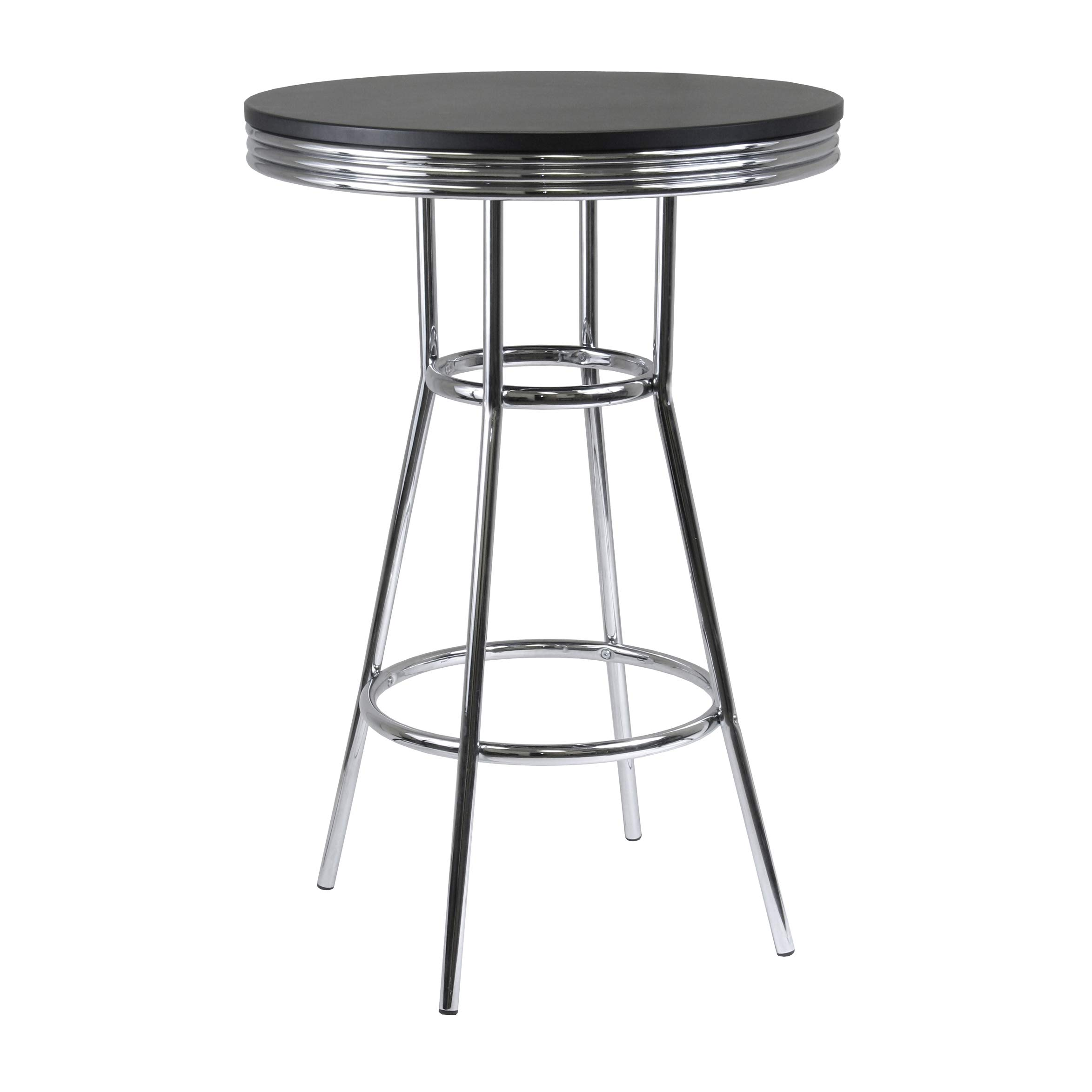 Winsome Wood 93030 Summit Dining, Black by Winsome Wood