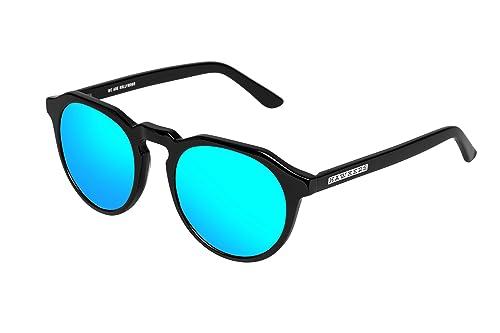 Hawkers Diamond Black Clear Blue Warwick X, Gafas de Sol Unisex, Negro/Azul