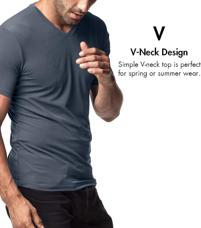 LAPASA 2 Pack Mens Vests Super Soft and TAG Free Micro Modal Undershirts Short Sleeve T-Shirt M07 M08