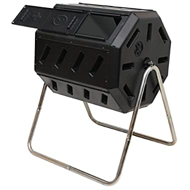 FCMP Outdoor IM4000 Tumbling Composter, 37 gallon, Black