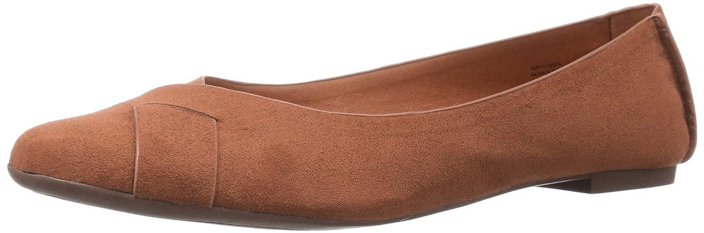BC Footwear Women's Petite V-Suede Ballet Flat B01DFJU962 8 B(M) US|Cognac