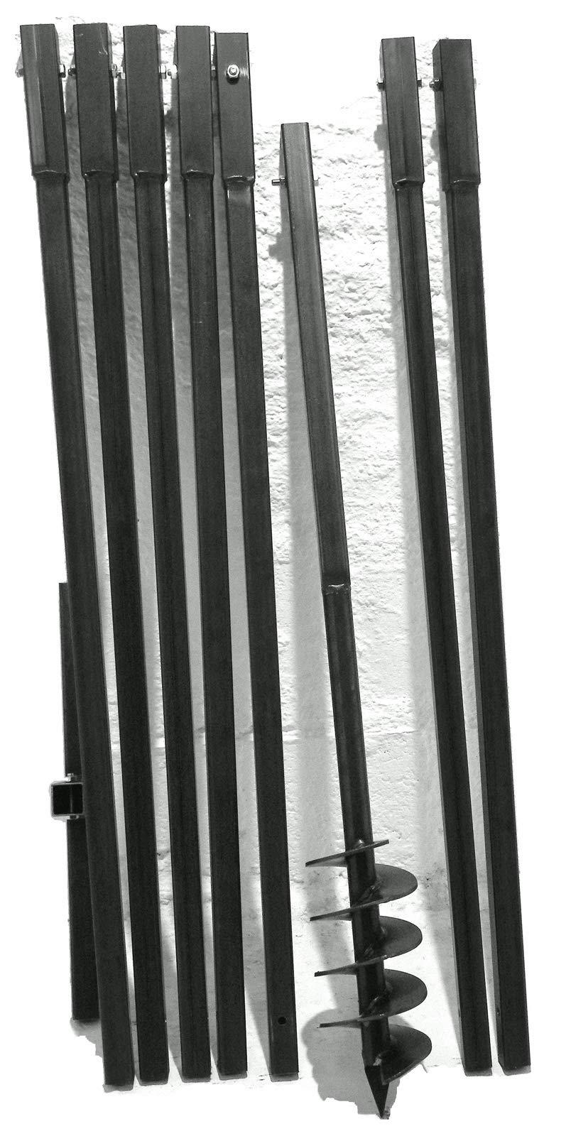 160mm Bohrkopf 1,1m Erdbohrer m Lochspaten Pfahlbohrer Motorbohrer Bohrer --