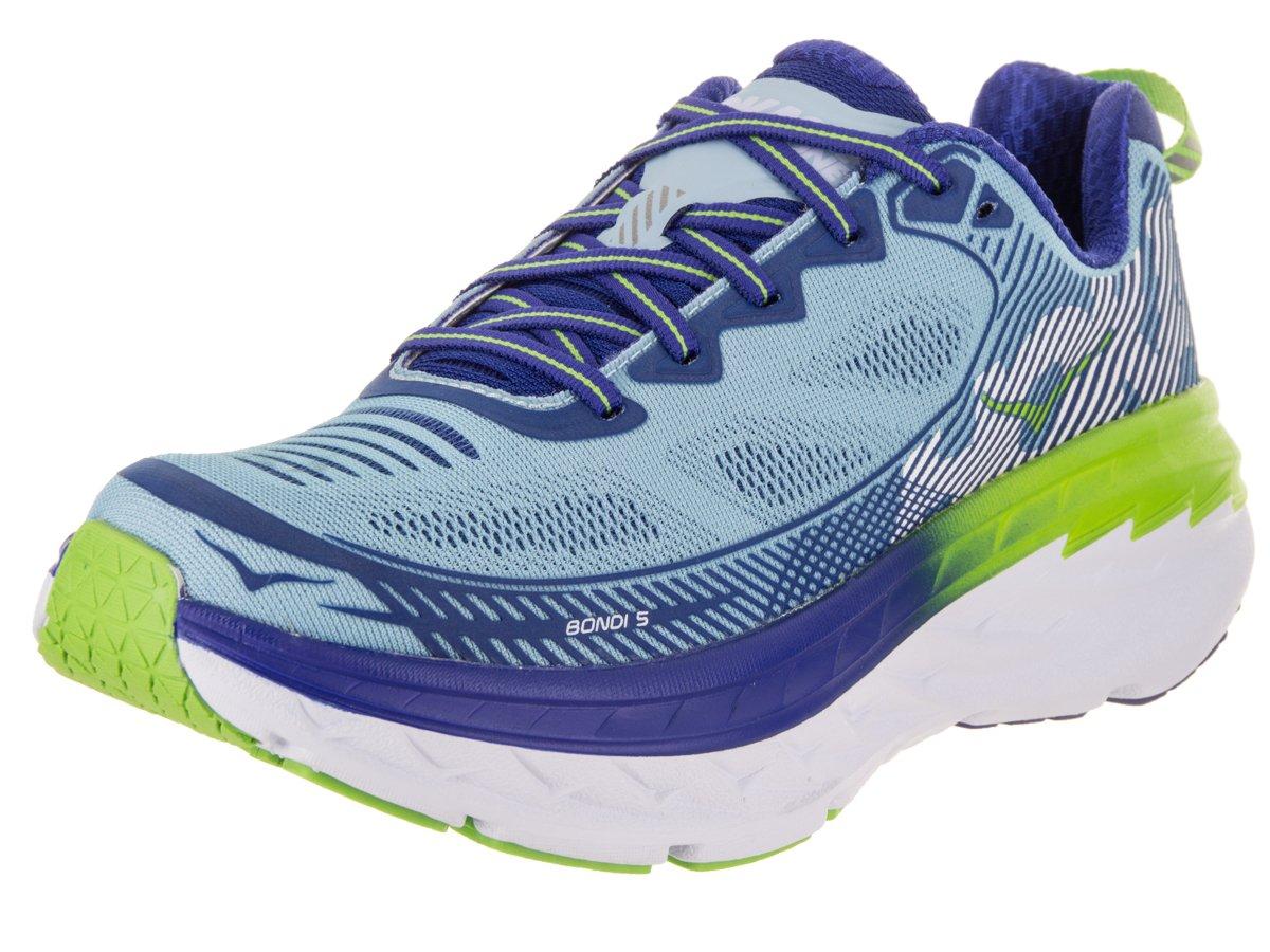HOKA ONE ONE Women's Bondi 5 Running Shoe B071713621 8.5 B(M) US|Sky Blue / Surf the Web