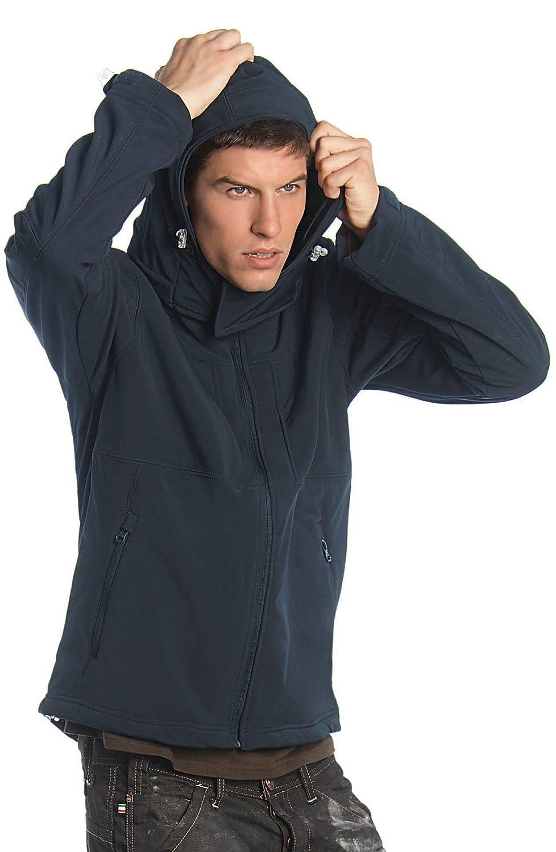 B&C - Hooded Softshell Men M,Navy