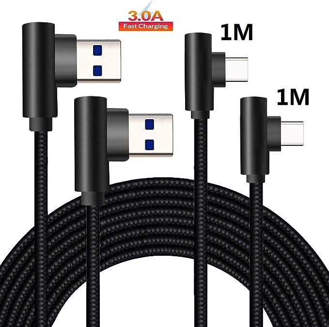 149 opinioni per 90 Gradi Cavo USB Type-C 1m+1m Per Huawei P20 P30 Mate 20 30 Lite Pro,Honor View
