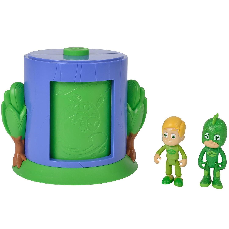 #0107 PJ Masks Verwandlungs-Station beweglicher Gecko und Greg Inklusive • Mask Kinder Spielzeug Figuren Set