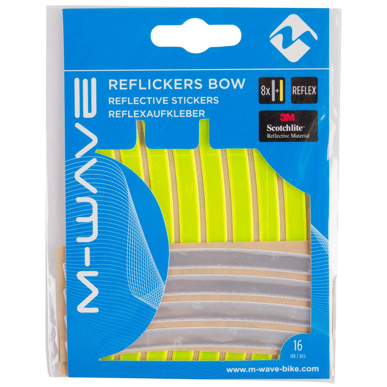 M-Wave Velcro Illu Banda Pantalones//Brazo Seguridad Unisex-Adult Amarillo