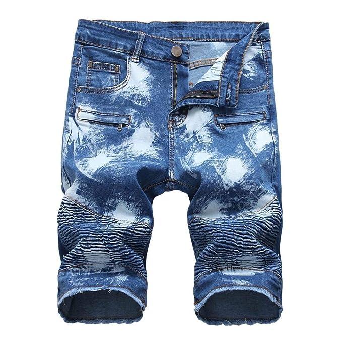 Pantalones Cortos para Vaqueros Verano Hombre Pantalones De ...