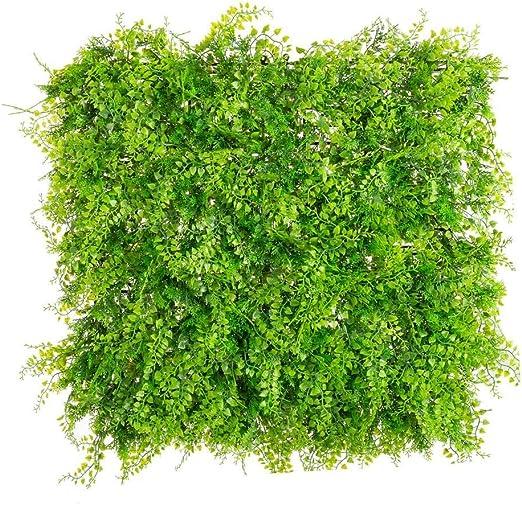 Panel Artificial de Exterior para jardín Vertical de Helecho Verde 50x50 cm - LOLAhome: Amazon.es: Hogar