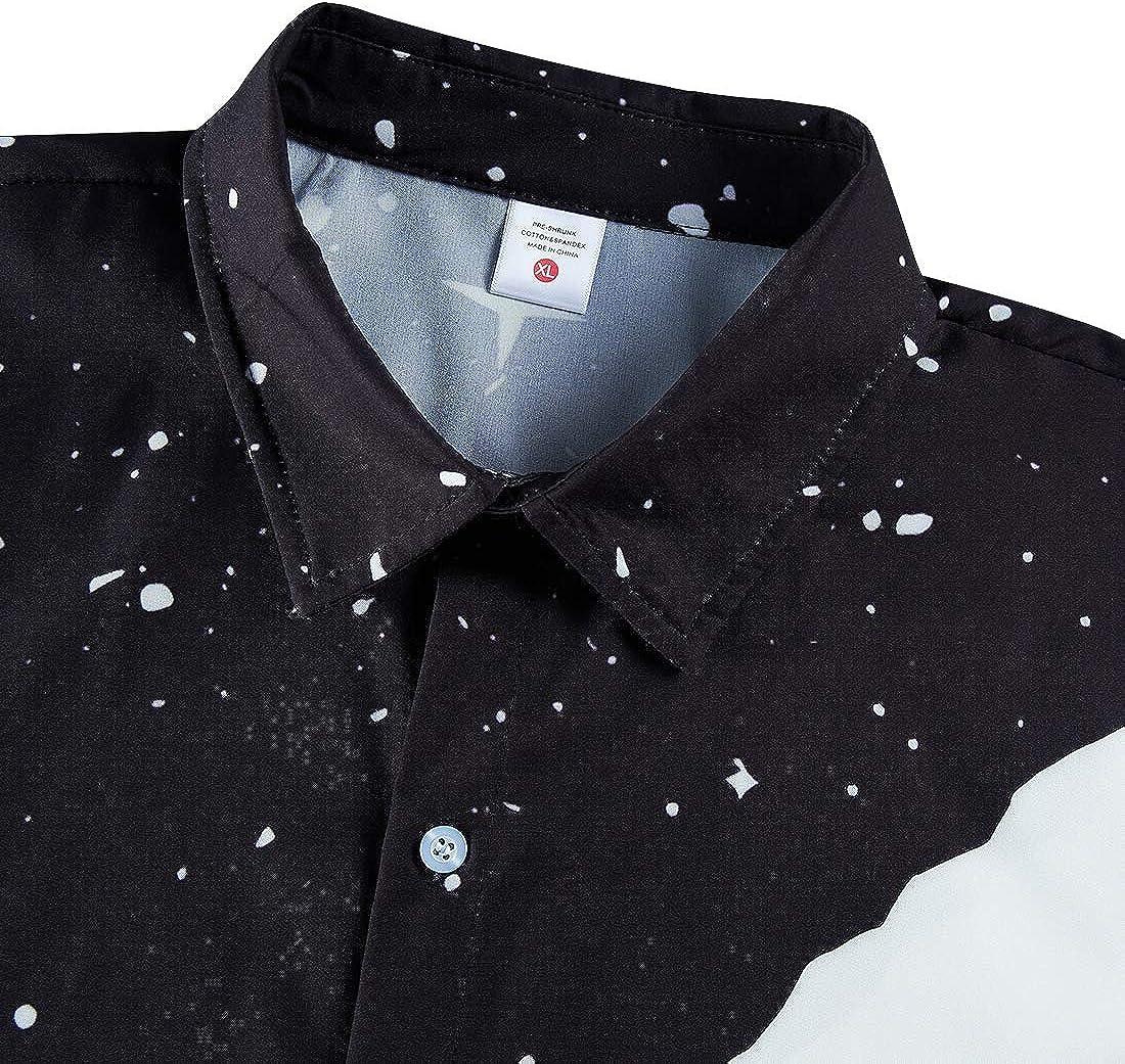 Spreadhoodie Mens Hawaiian Shirt Casual Funky Short Sleeve Summer Beach T-Shirts Tops Blouse M-XXL Climber