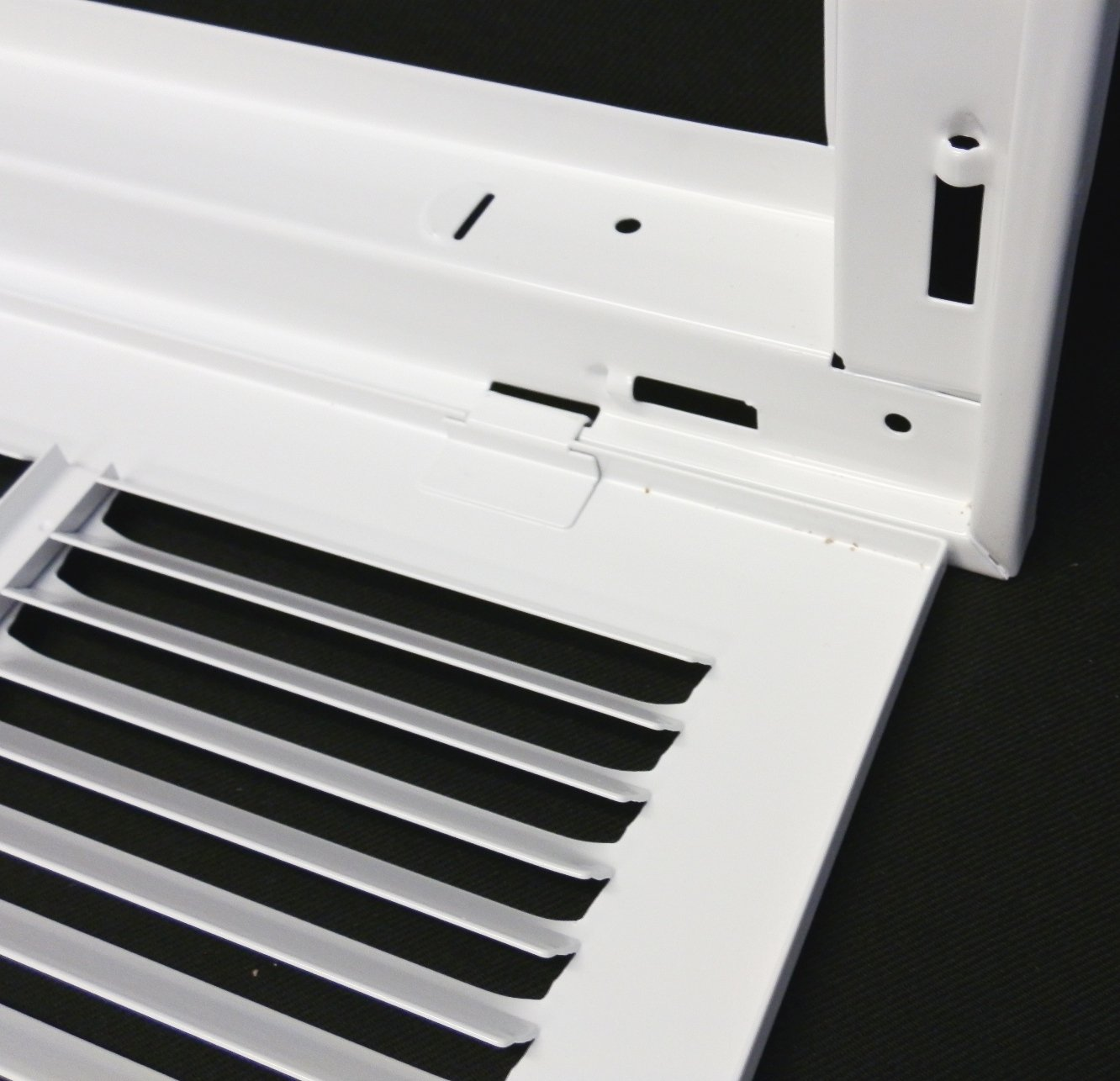 30'' X 14 Steel Return Air Filter Grille for 1'' Filter - Removable Face/Door - HVAC DUCT COVER - Flat Stamped Face - White [Outer Dimensions: 32.5''w X 16.5''h] by HVAC Premium (Image #3)