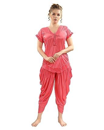 4f379c4d97 AV2 Women Patiala Satin Top   Pyjama Set 1218  Amazon.in  Clothing    Accessories