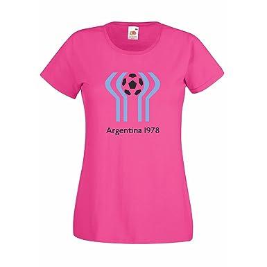 Damen T-Shirt Argentinien WM78 Argentina Weltmeisterschaft 1978 Fussball:  Amazon.de: Bekleidung