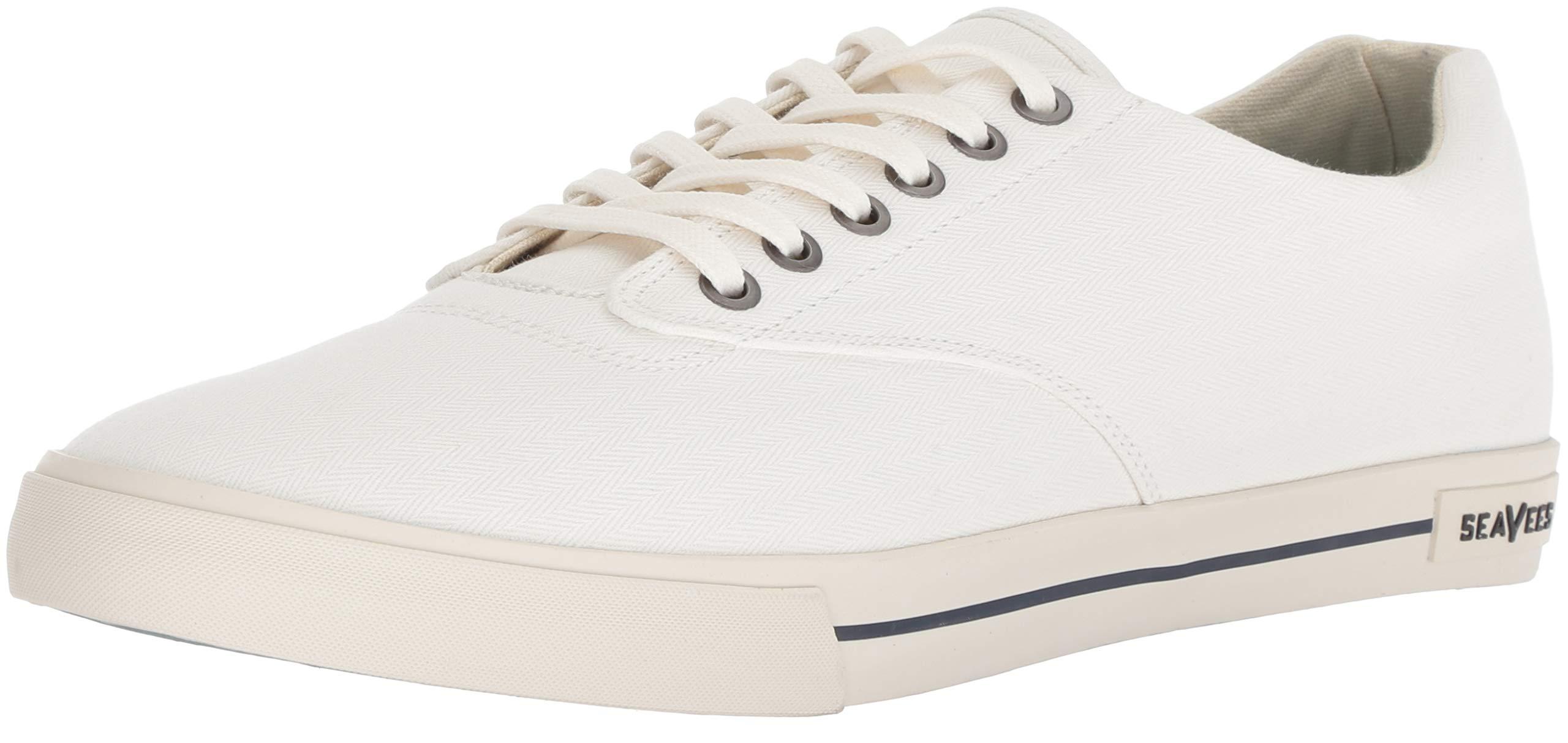 SeaVees Men's Hermosa Plimsoll Sneaker, Bleach, 10.5 M US