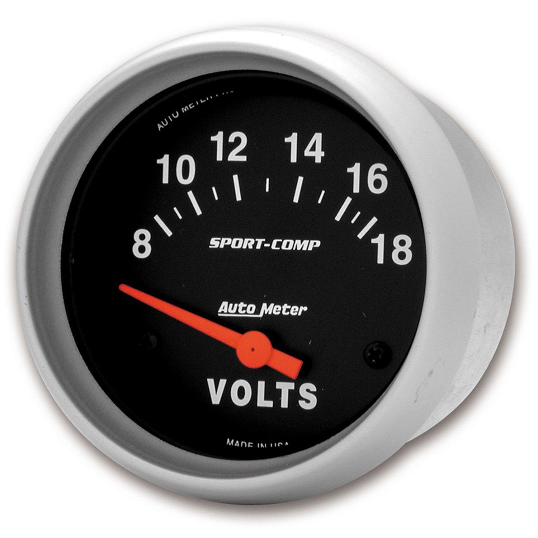 Auto Meter 3592 Sport-Comp Electric Voltmeter Gauge