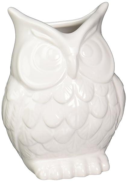 Amazon Abbott Ceramic Owl Vase White Decorative Vases