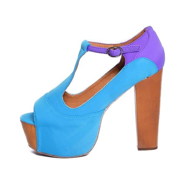 Jeffrey Campbell Zapatos de Vestir de Tela Para Mujer Multicolor Blu Viola 36 Multicolor Size: 36 KyHbA
