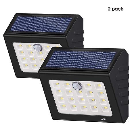 [nueva versión] 19 LED Solar luces, funciona con energía solar sensor de movimiento