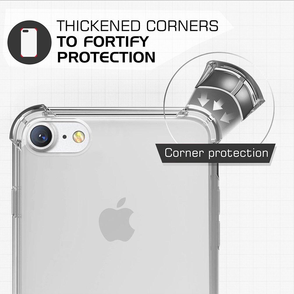 XJPJ-I7-5.5-C04 First2savvv p/úrpura Slim Fit Silicona iPhone 7plus 5.5 Choque Absorbente Funda Carcasa Case Bumper con Absorci/ón de Impactos Case Cover