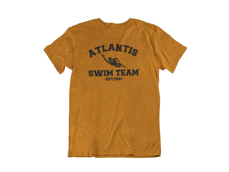 Adult Orange DC Comics Comic Book Super Hero Aquaman Portrait Box T-shirt Tee