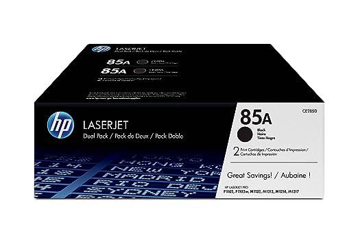9 opinioni per HP CE285AD Toner per stampanti Laserjet, colore nero (2 pezzi)