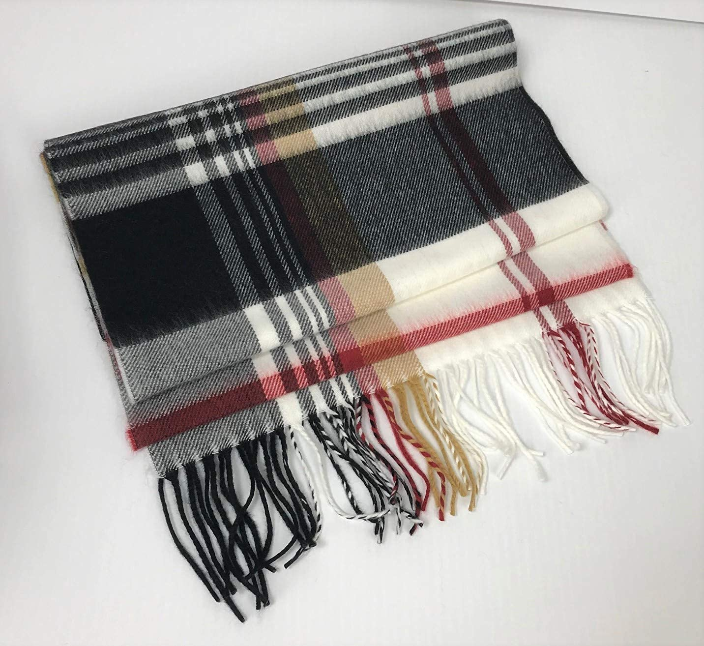 Cashmere Scarf With Fringe...