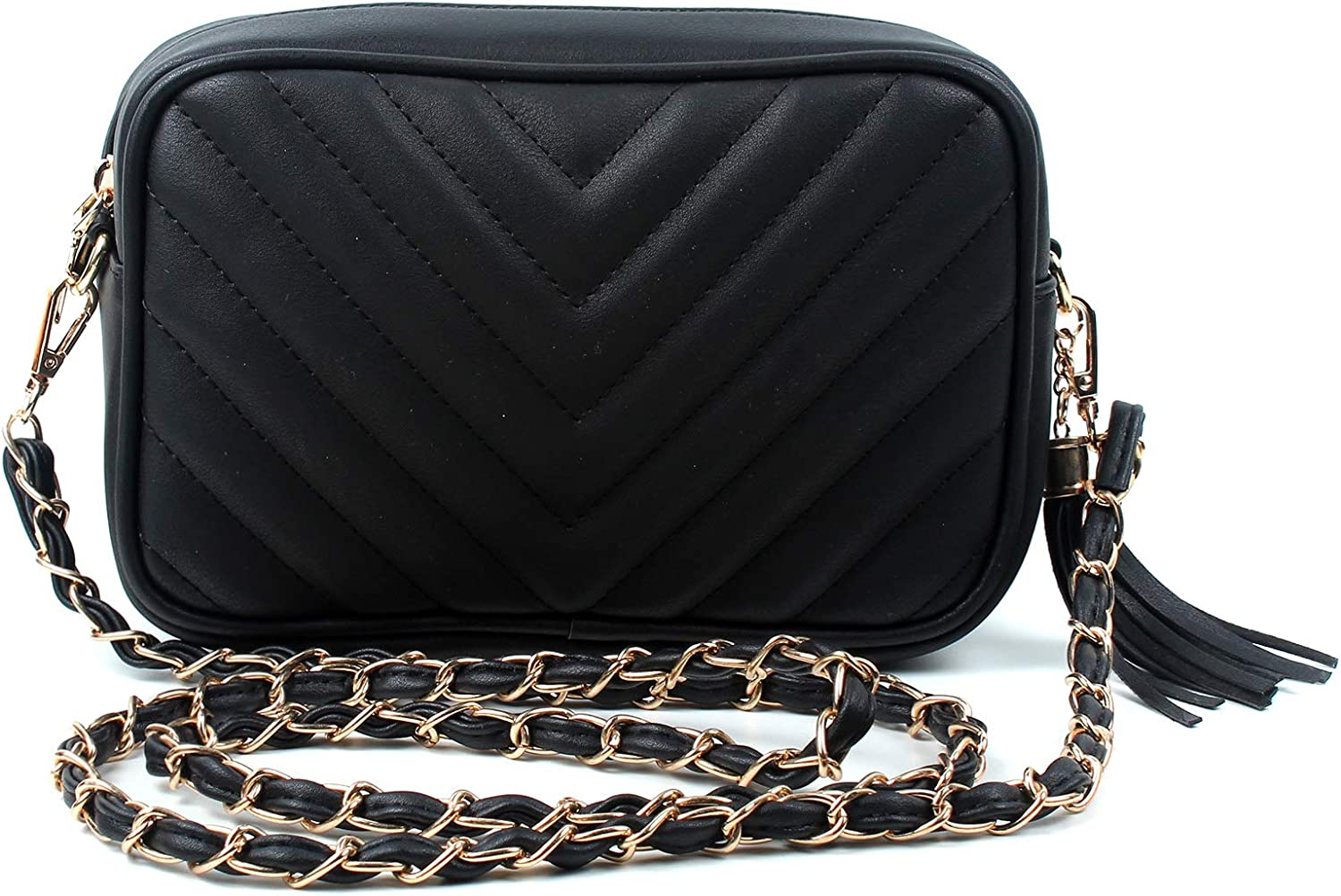 New All-In-One Soft Faux Leather Women Crossbody Bag Messenger Clutch Wristlet