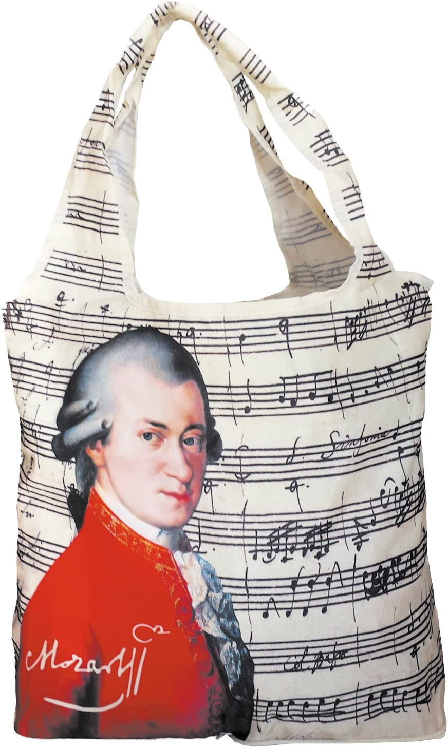 Fridolin 40544 Mozart Sac /à Provisions Pliable Nylon Multicolore 16 x 13 x 4 cm