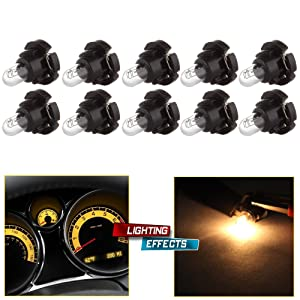 cciyu T4/T4.2 Neo Wedge Halogen Bulbs Replacement fit for Instrument Dash A/C Climate Control Light,10Pack
