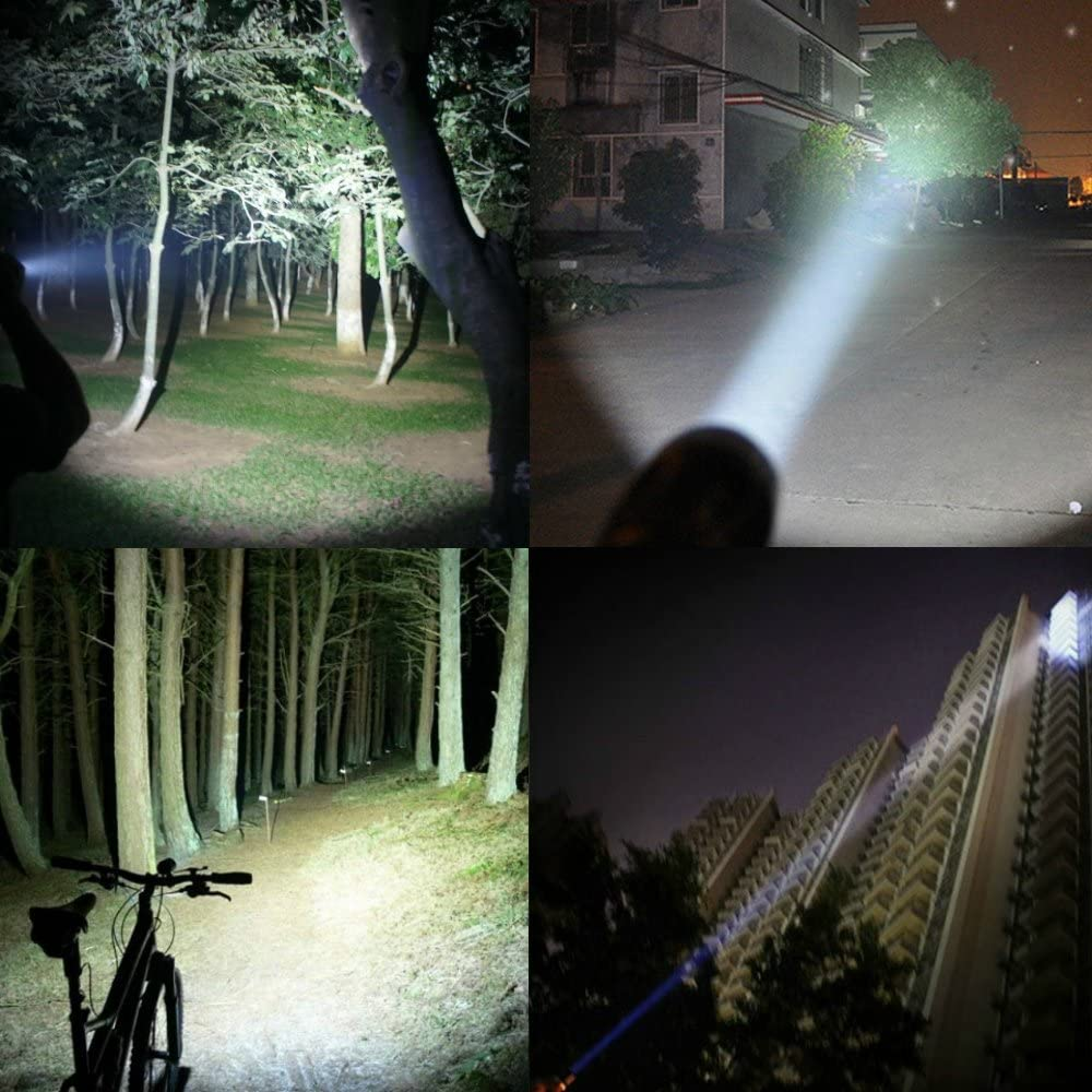 PeakPlus Rechargeable Tactical Flashlight LFX1000 (18650 Battery and Charger Included) - High Lumens LED, Super Bright, Zoomable, 5 Modes, Water Resistant - Best Camping, Emergency Flashlights: Sports & Outdoors