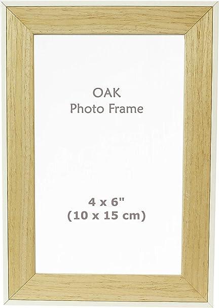 """Couleur blanche en bois Cadre Photo 4/""""x6/"""" Photo"""