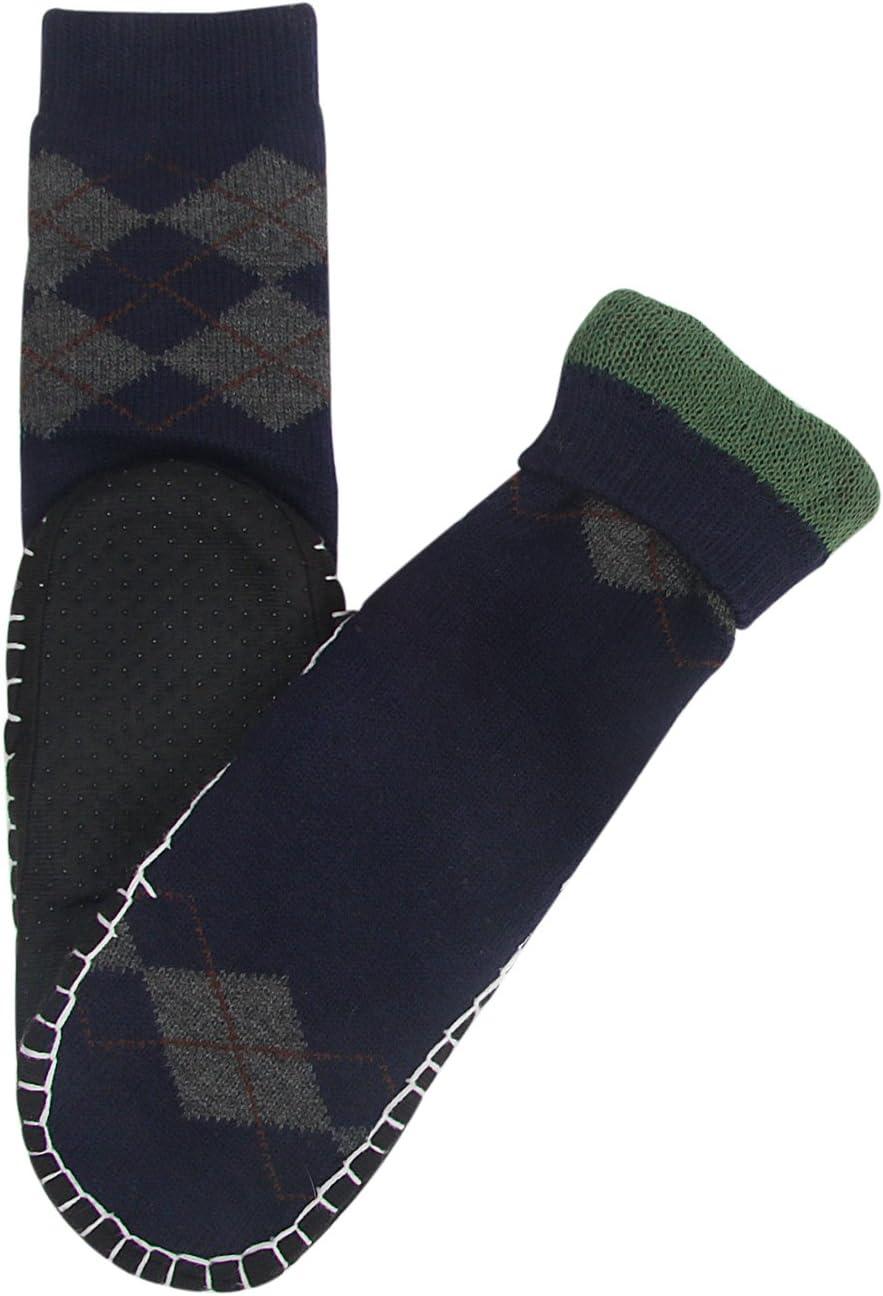 Vihir Hombres Calcetines Antideslizantes para el hogar