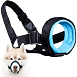 Gentle Muzzle Guard Dogs - Prevents Biting Unwanted Chewing Safely Secure Comfort Fit - Soft Neoprene Padding – No More…