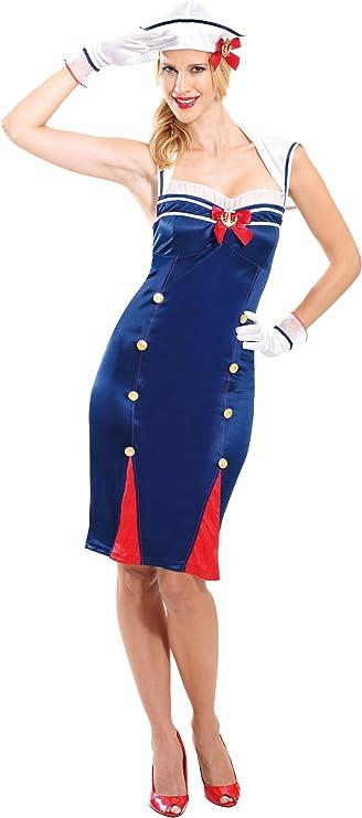 Christy`s 996176 - Disfraz de marinera para mujer (adulto): Amazon ...