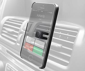 KukaClip BXKKIPH5 - Soporte magnético + funda para Apple iPhone 5/5S, negro