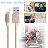HKYUSHINE Phone Charger Cable 3PACK Compatible with Phone XS X 8 8 Plus 7 7Plus 6Plus 6s Gold