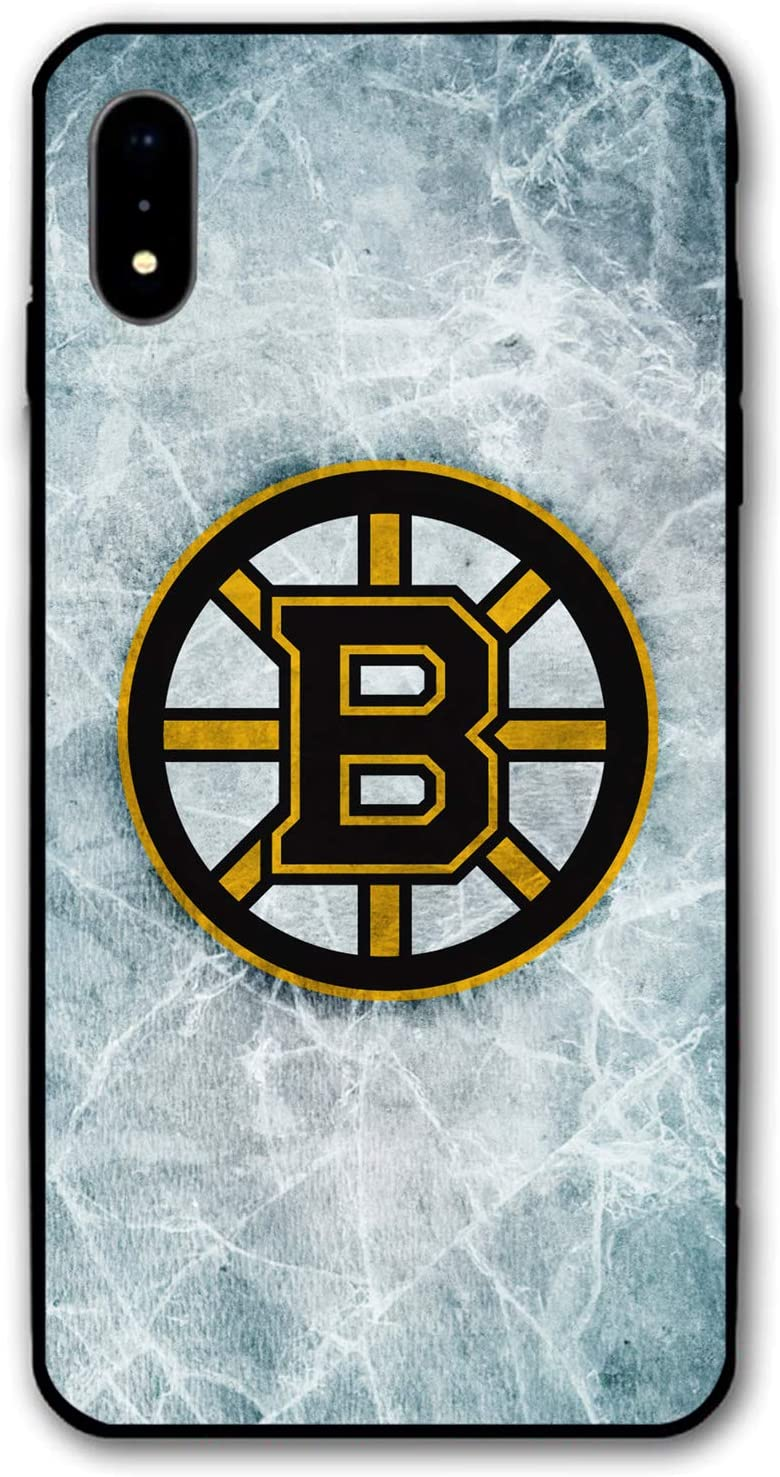 "iPhone XR Case,Hockey Teams Silicone Bumper Frame and PC Back Cover Cases for iPhone XR 6.1"" (Bruins-BOS)"
