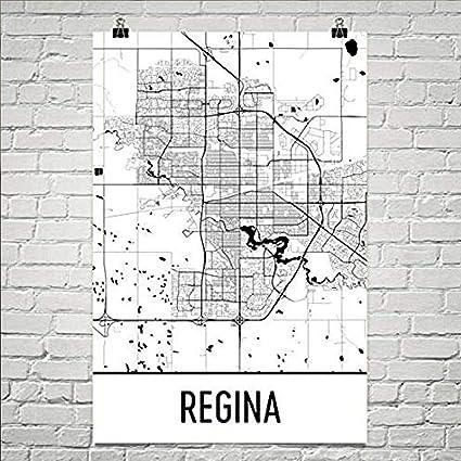 Amazon.com: Regina Map, Regina Art, Regina Print, Regina ...