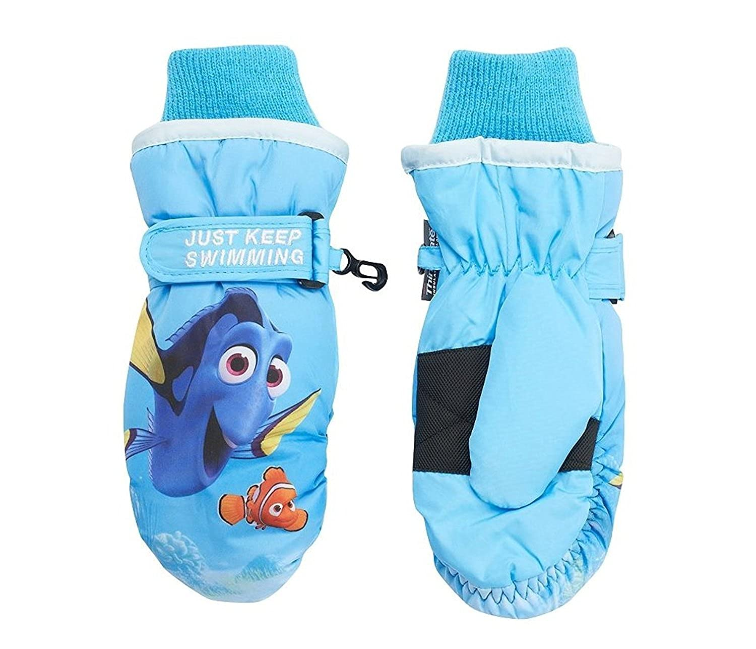 Girls Child Disney Finding Dory Thinsulate Snow Ski Mittens ages 4 to 8