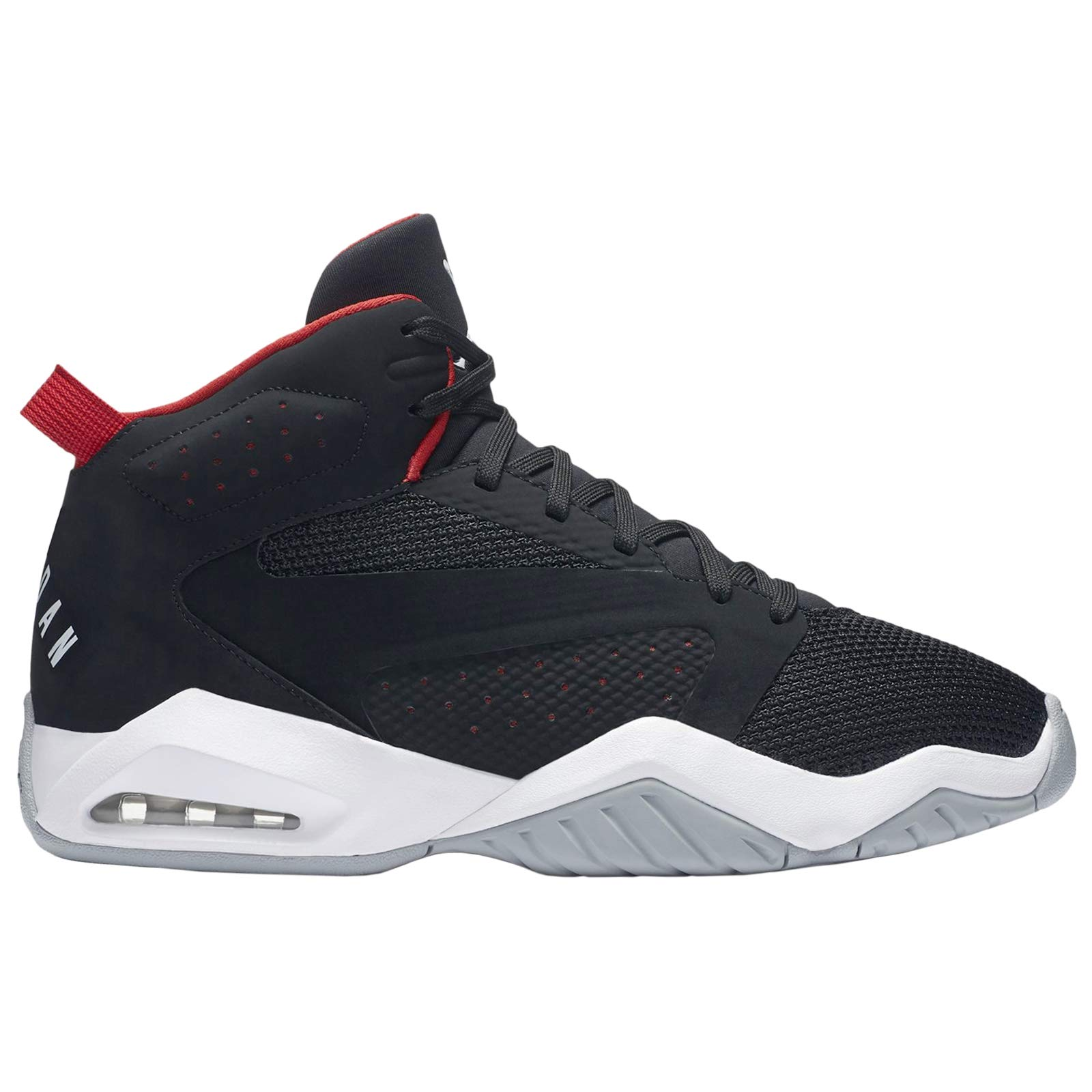 Jordan Nike Mens Lift Off Shoes, Black/White-University Red-Wolf Grey, 8