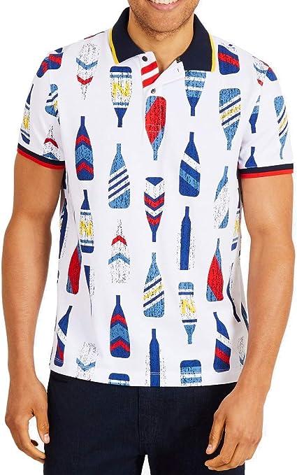 Nautica Mens Oar-Print Rugby Polo Shirt: Amazon.es: Ropa y accesorios