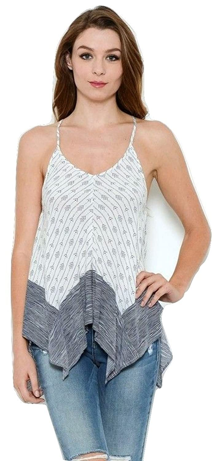 PRINTED STRAPPY TANK