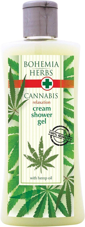 Gel de ducha cremoso Cannabis con aceite de cáñamo 250 ml – Cosméticos naturales puros originales