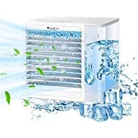 Portable Air Conditioner Fan, RAINBEAN Personal Evaporative Air Cooler and Humidifier with USB Charging Quiet Mini Space…