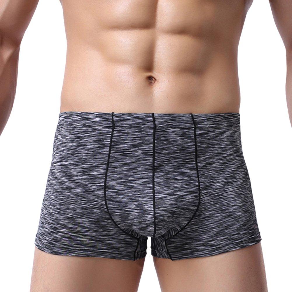 BaiX Mens Comfort Seamless Low Rise Pouch Boxer Briefs Underwear