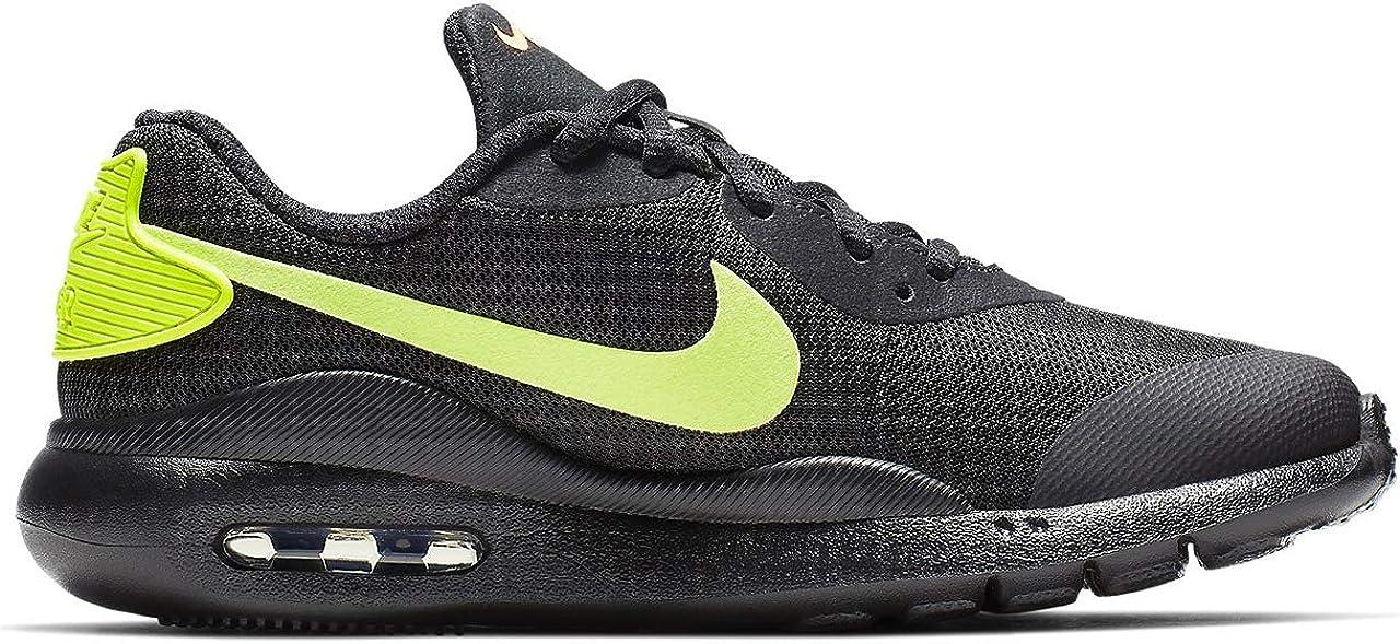 Nike Air Max Oketo (GS), Chaussures d\'Athlétisme Homme Multicolore Black Volt Total Orange 000