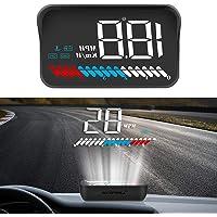 Heads Up Display Full HD HUD OBD2&GPS Dual System Digital Speedometer Windshield Projector Digital Speedometer Alarm…