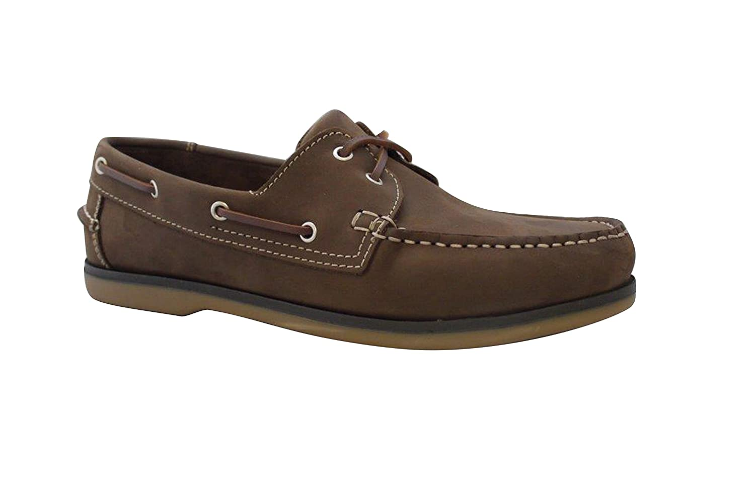 Kanyon Amalfi Mens Boat Deck Shoes Casual Nubuck Leather Rubber Sole